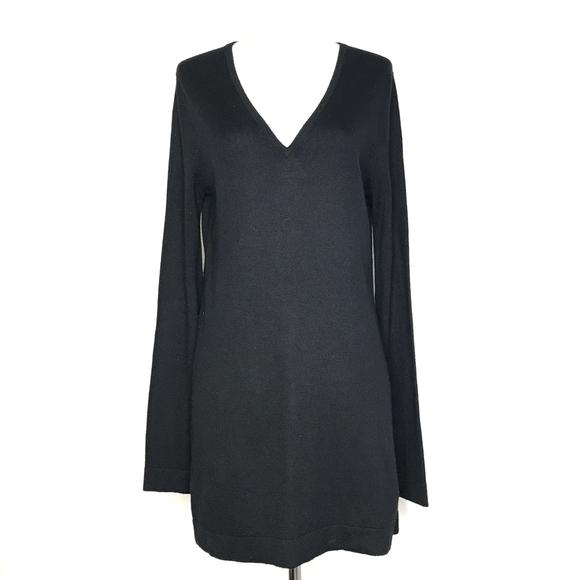 BCBGMaxAzria Dresses & Skirts - BCBGMaxAzria Black Silk/Cashmere Sweater A170666